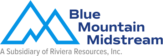 Horizontal Blue Mountain Midstream logo